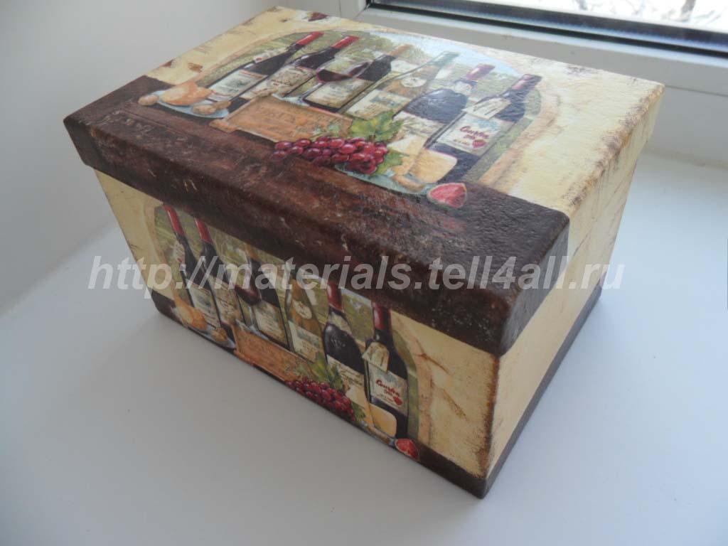 коробочка декупаж
