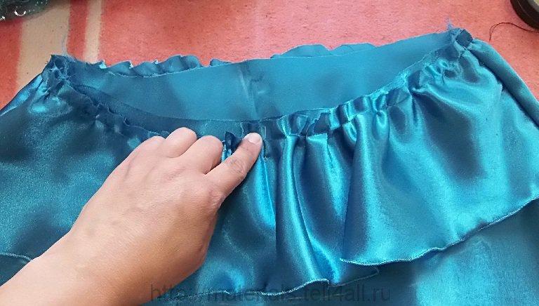 Оборки на платье своими руками 493