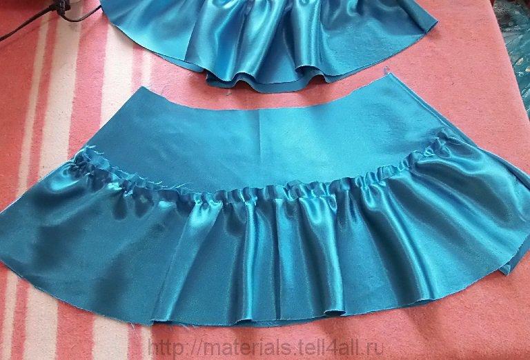 Как сшить нижнюю юбку к платью 714