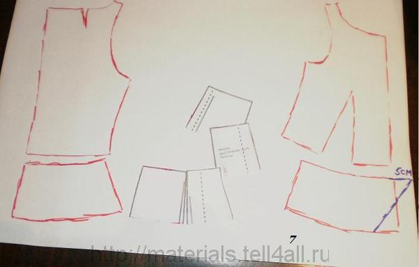 Построить выкройку блузки с баской своими руками 31