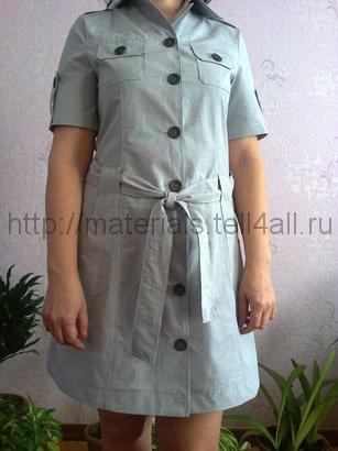 1ffee0f993a Мастер-класс  шьем платье-сафари