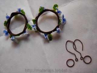 сережки из пластики