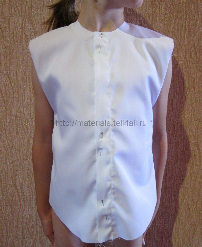 Как сшить рубашку для девочки в школу своими руками
