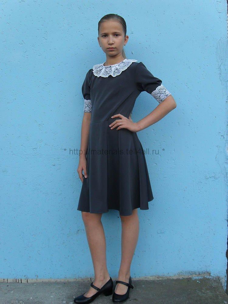 Платье в школьном стиле своими руками 51