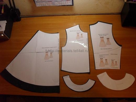 1 пошив школьного платья
