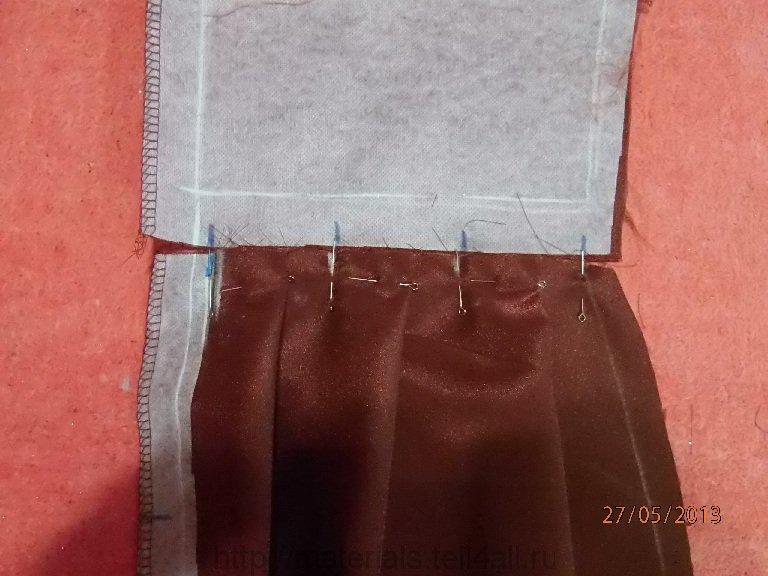 Как сшить юбку в складку мастер класс