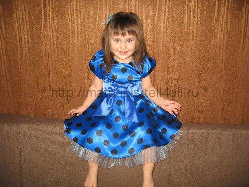 Рукава фонарики на детское платье