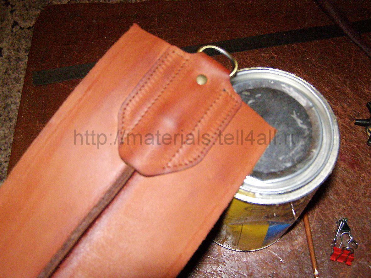 Как шить шилом сумку