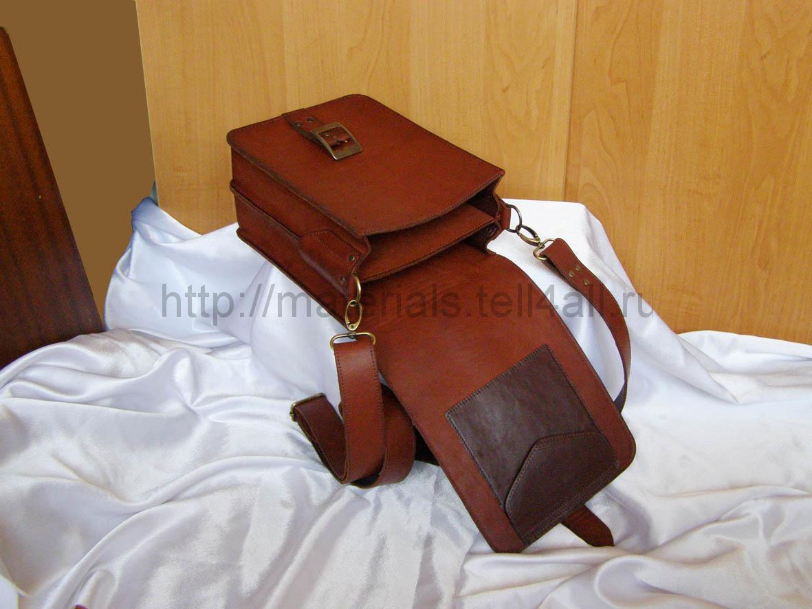 Сшить мужскую сумку из кожи своими руками 7
