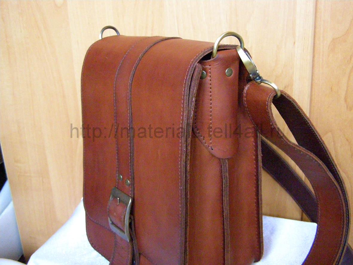 Мужская сумку из кожи своими руками