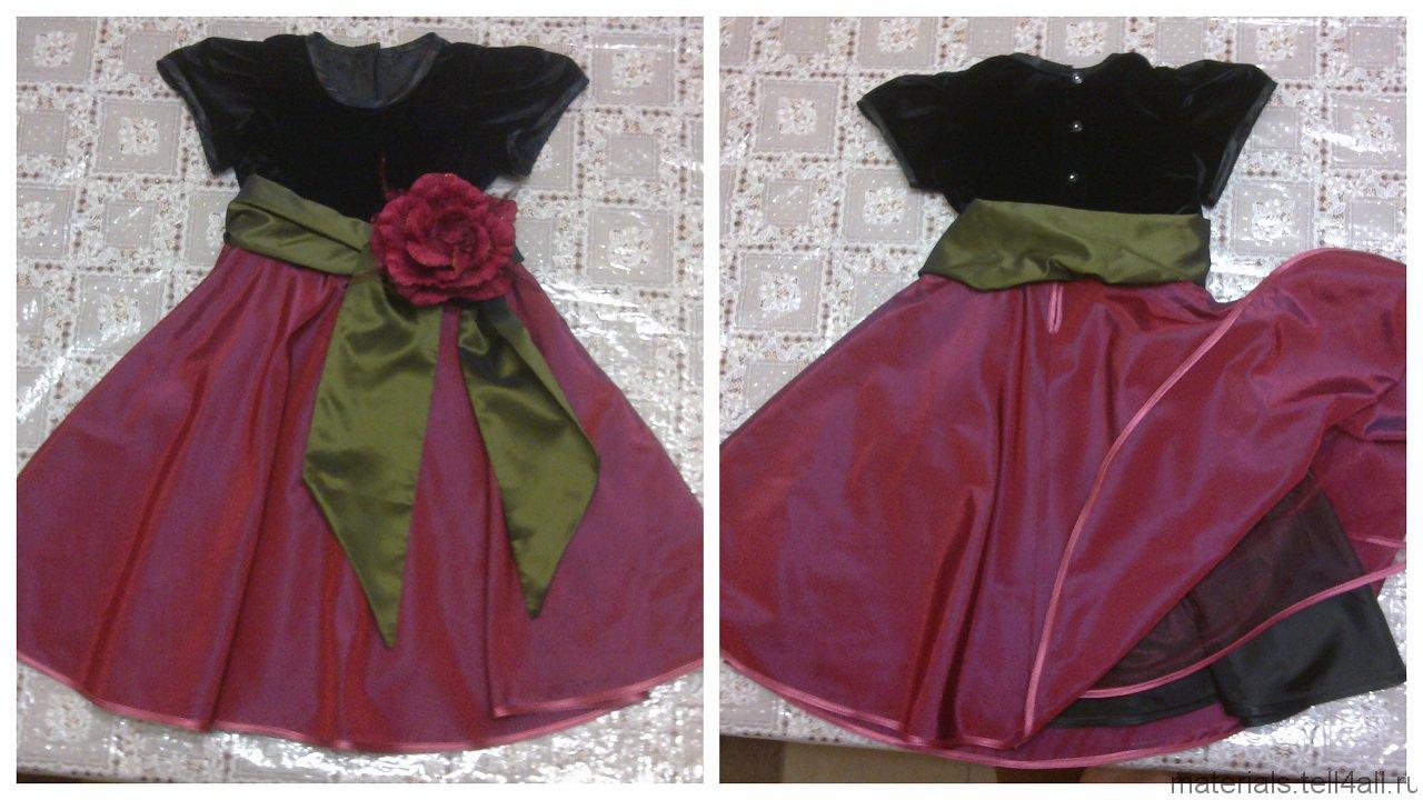 Выкройка платье для девочки рост 80 см