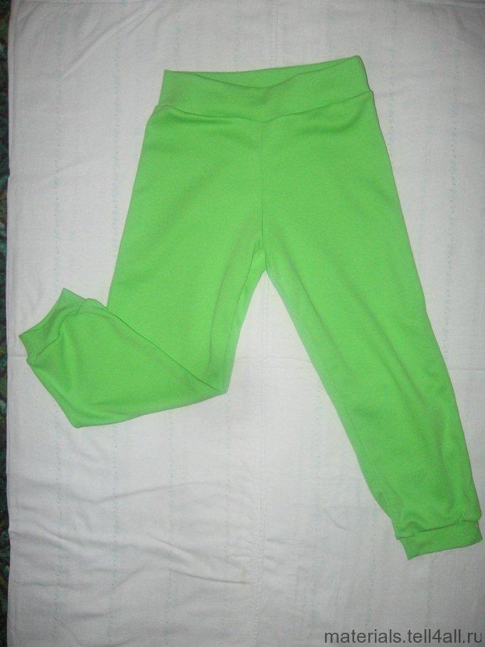 Осенние штаны для девочки выкройка