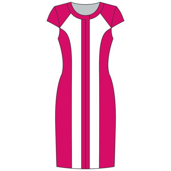 Выкройка платья с вертикальной