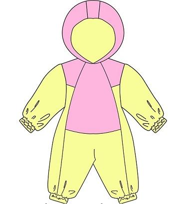 Выкройка детского зимнего комбинезона