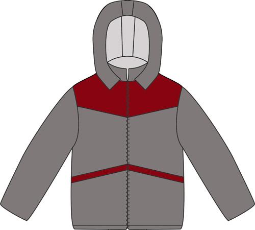 Выкройка теплой куртки для мальчика