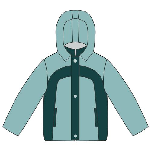 Выкройка утепленной куртки для мальчика