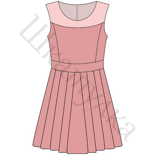 Выкройка юбки для девочки рост 134