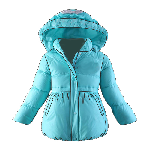 Выкройка куртки-баллон для девочки