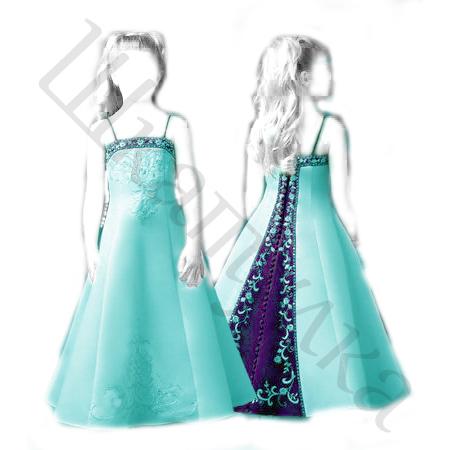 Выкройка бального платья для девочки