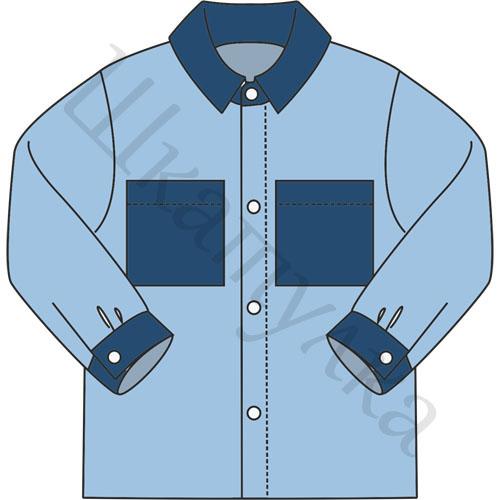 Выкройка простой рубашки