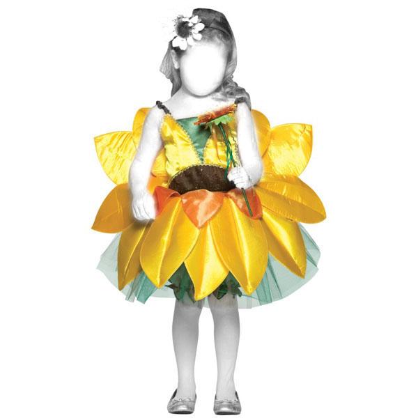Новогодний костюм для девочки: Ромашка