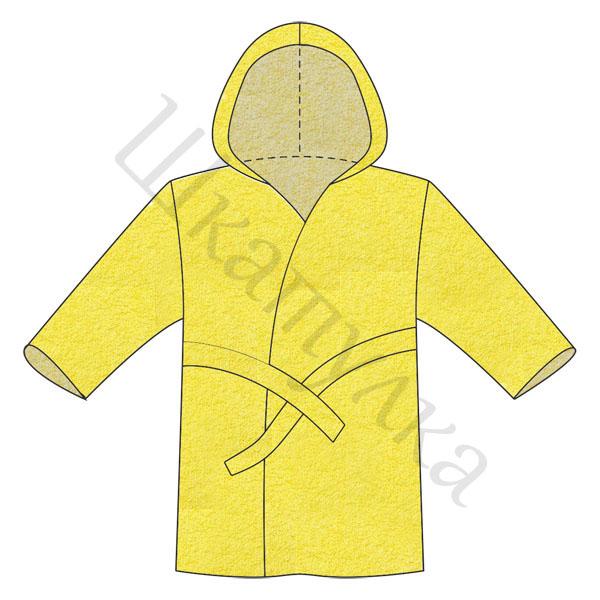 Выкройка детского махрового халата с капюшоном