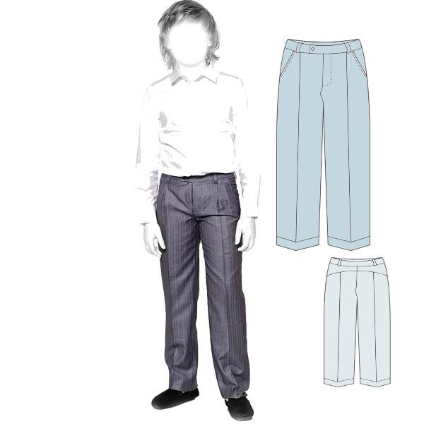 Выкройка классических брюк со стрелками для мальчика
