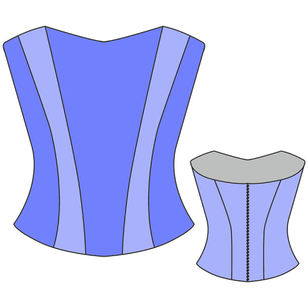 Платье с корсетом выкройка скачать