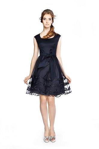 Образ платье с пышной юбкой