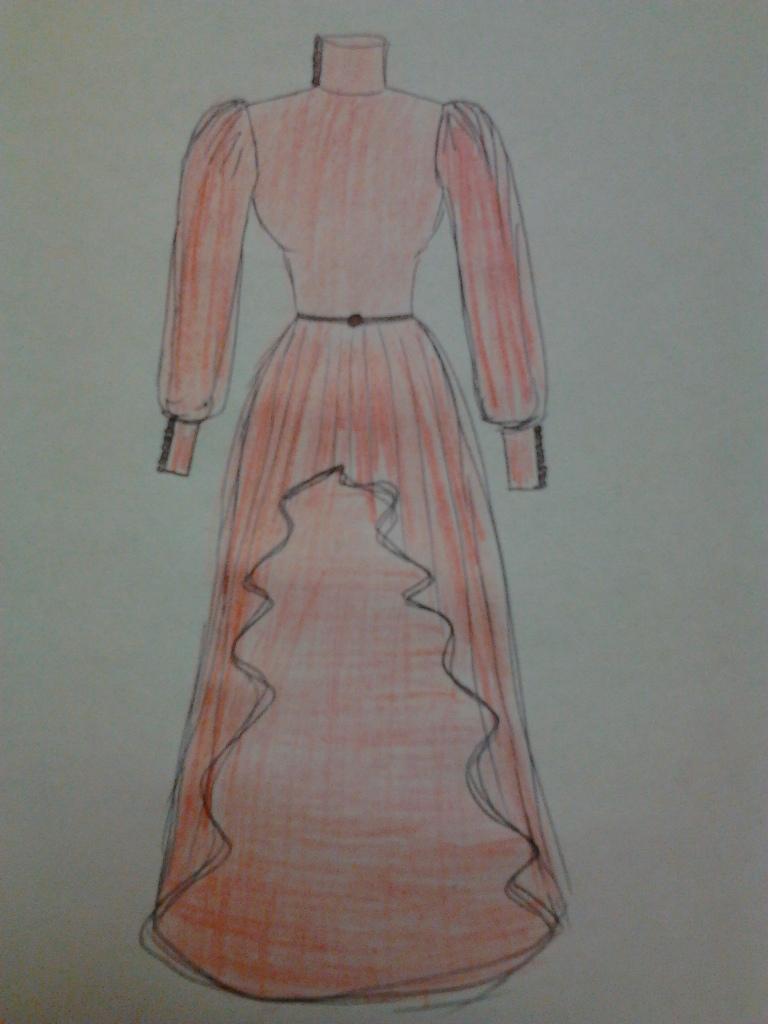 цветные платья в пол