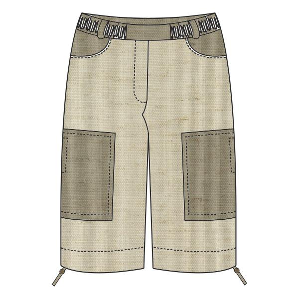 Выкройка мужских брюк капри