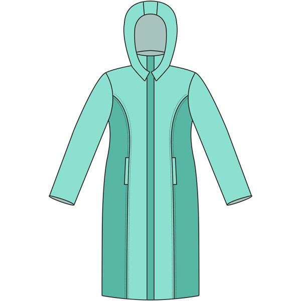 Выкройка женской удлиненной куртки