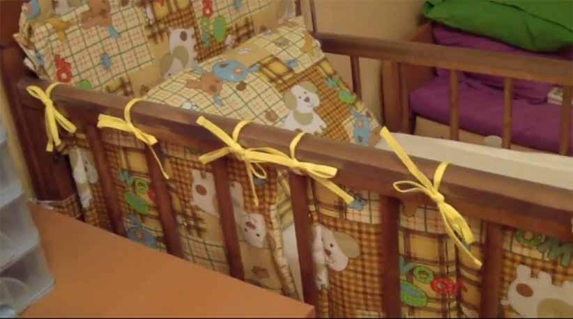Как сшить бортики в кроватку ребенку
