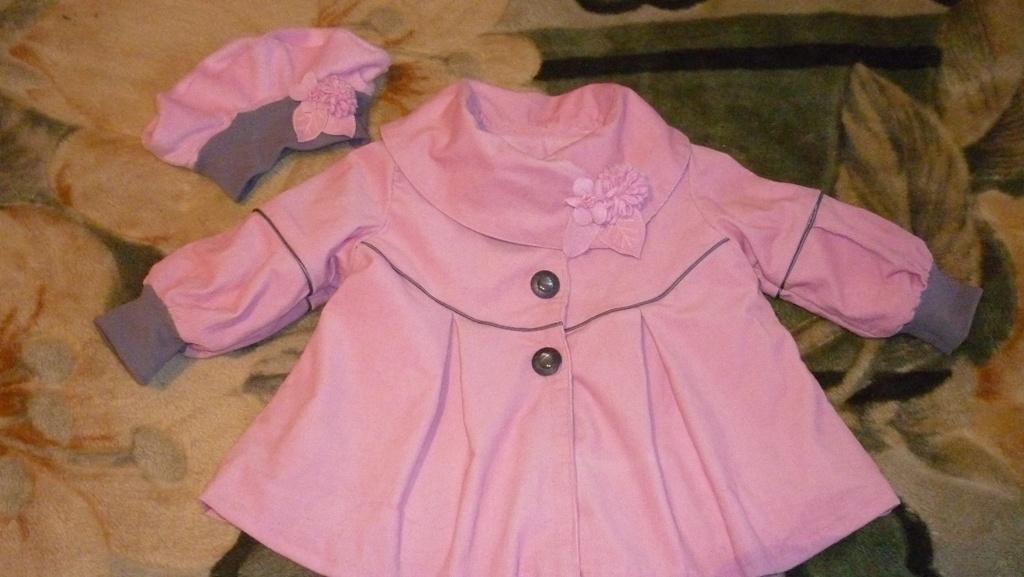 Пальто для дочки (верх микровильвет,подклад флис)