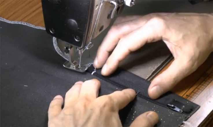 Как выполнить застежку на брюках