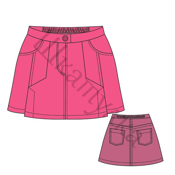 Джинсовые юбки выкройки бесплатно