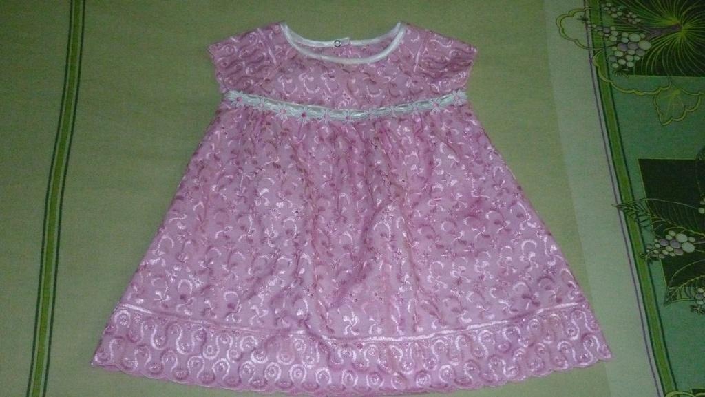 платье с рукавом-реглан для малышки