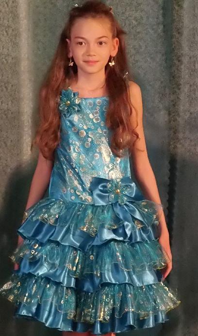 Нарядное платье девочке мк