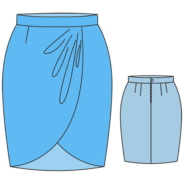 Юбка тюльпан описание