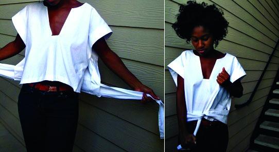Ретро блуза очень простого кроя