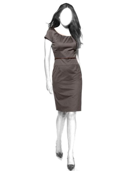 Выкройка платья-футляр WD030713