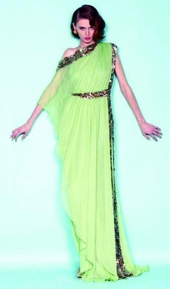 Элегантное асимметричное вечернее платье