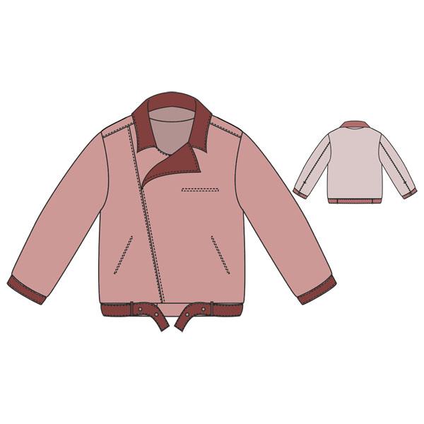 Выкройка детской куртки-косухи