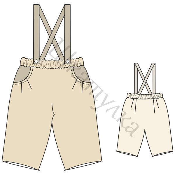 Выкройка штанишек с кармашками для малыша