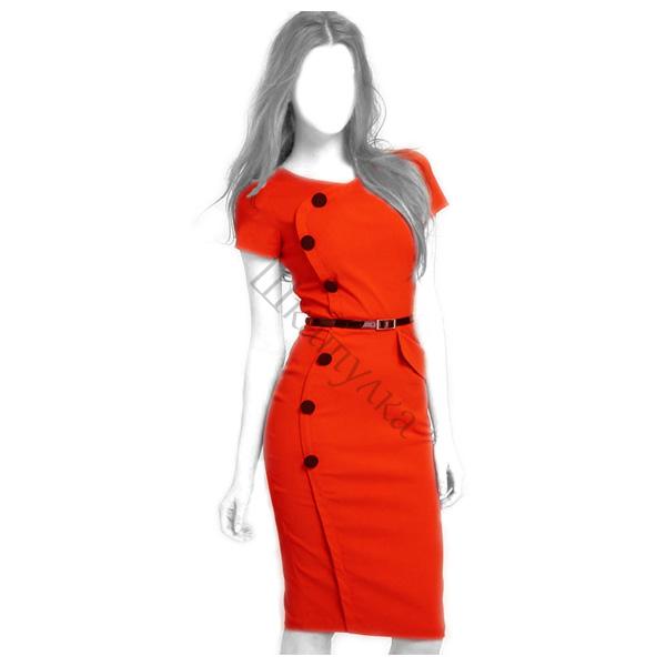 Выкройка офисного платья