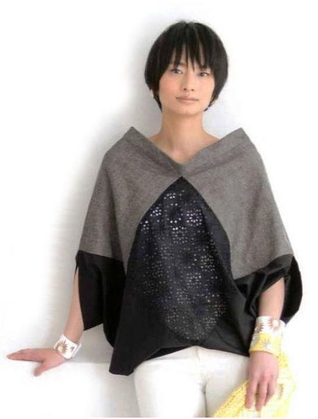 Простая креативная блуза из прямоугольников