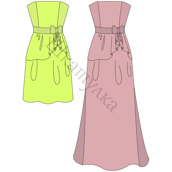Выкройка вечернего платья