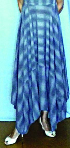 Юбка с асимметричным подолом