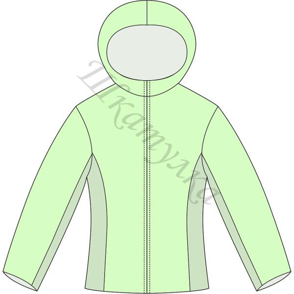Наличие в нашей выкройке женской удлиненной куртки капюшона является Скачать выкройку женской