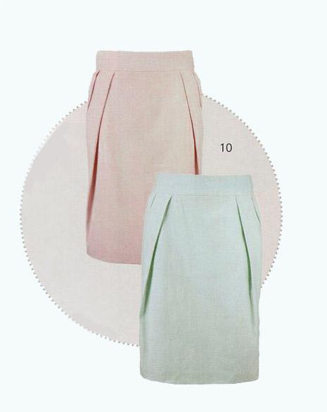 Моделирование юбки с наклонными складками